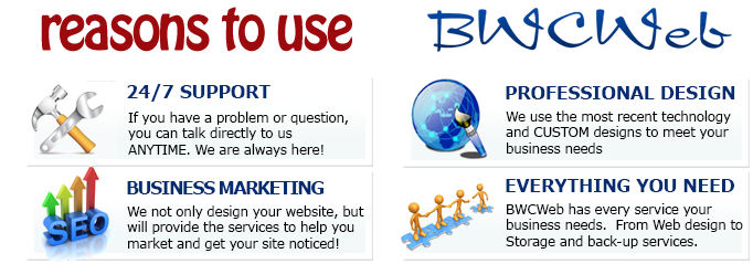 BWCWeb design reasons to use our services